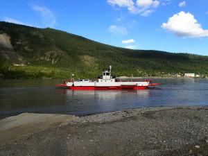 Free Ferry across the Yukon River