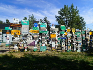Signpost Forest in Watson Lake