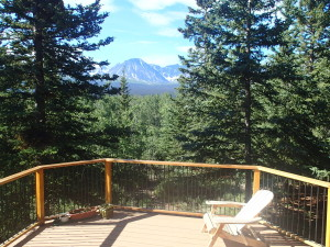Nice view from the deck of Debb's and Steve's House
