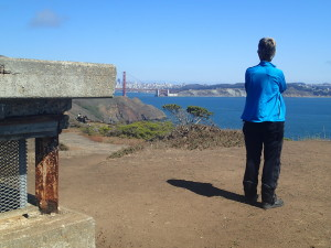 View of Golden Gate Bridge from Old WW 2 Bunkers