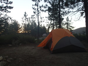 Campsite in the San Gabriel Mountains