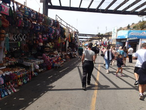 Mile of vendors to sell you anything