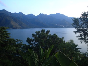 Lake Atitlan, view from our hotel room