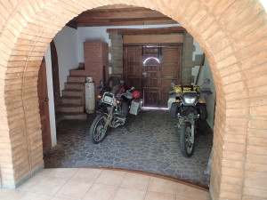 Bikes secured at the Hostel in Leon