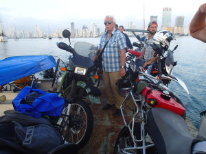 Unloading the Bikes in Cartagena