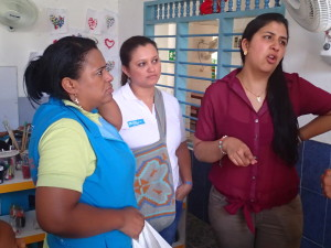 Paula on the right was a wonderful translator and is Assistant of the National Director of SOS Children´s Villages Colombia