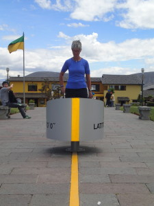 Feli is split in half at the Equator