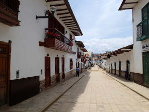 White washed buildings in Chachapoyas