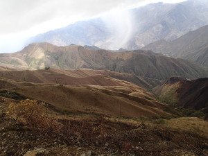 High Mountains on the way to Cajamarca