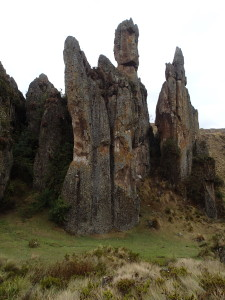 Rock formations at Cumbe Mayo