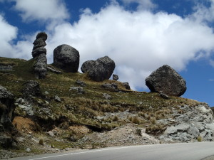 Big Rocks high in the Andes