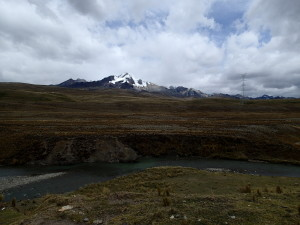 Cordillera Blanca Mountains in the distance