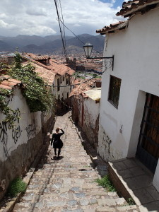 Narrow Street in Cusco