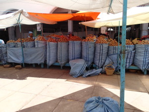 "Market in Sucre, lots of ""papas"""