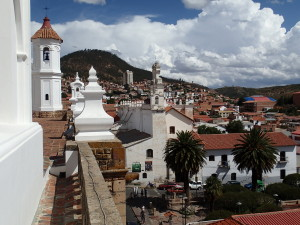 View over Sucre from San Felipe Neri