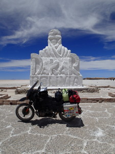Dakar Monument in the Salar de Uyuni