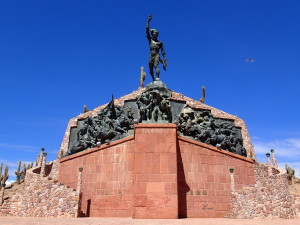 Monument about the struggle for Independence in Humahuaca
