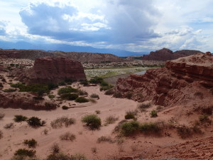 Red Mountains and desert