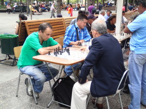 Playing Chess on the Plaza