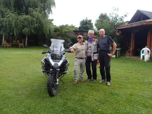 Carlos our host in Mulchen proud to show his BMW