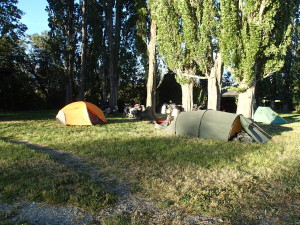 Camping with Anja and Michael at Park Patagonia