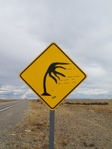 Signs you only see in Patagonia