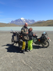 Michael and Anja in front of Laguna Amarga