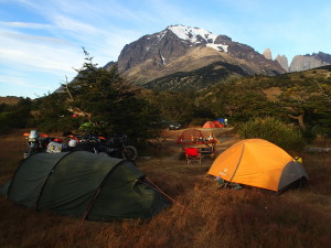 Nice camping spot at Torres del Paine National Park