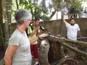 Feli finally touches a snake, Boa Constrictor